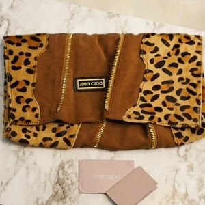 *DESIGNER* Oversized Jimmy Choo Pony Hair Clutch